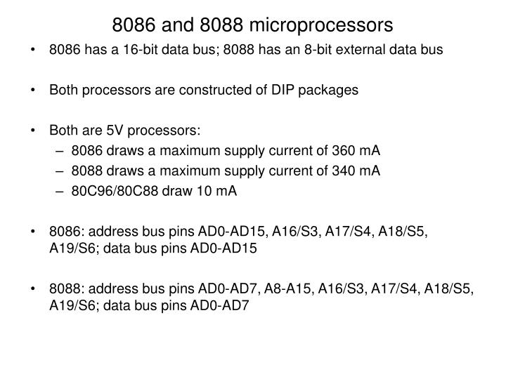 8086 and 8088 microprocessors