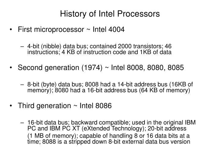 History of Intel Processors