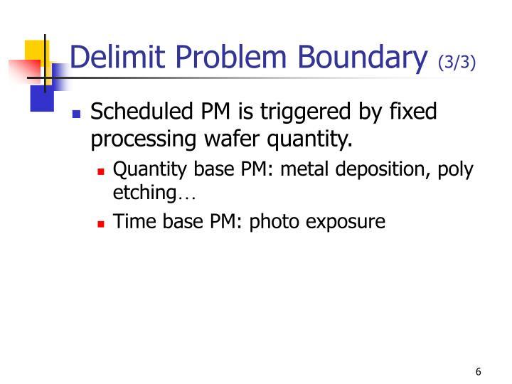 Delimit Problem Boundary