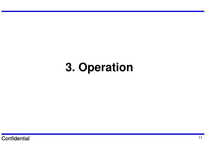 3. Operation