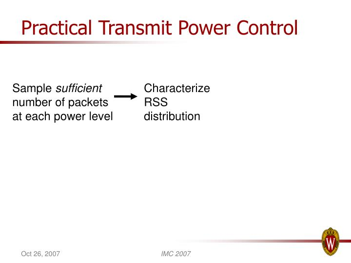 Practical Transmit Power Control