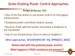 some existing power control approaches1