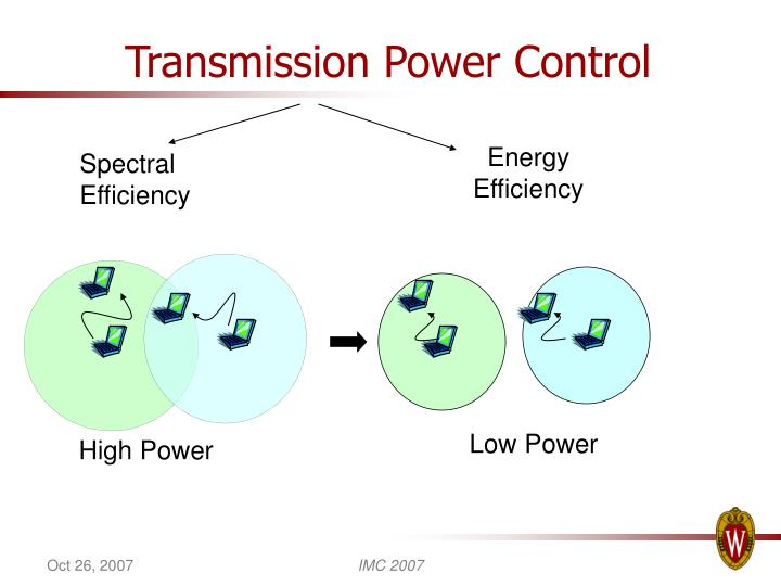 Transmission power control
