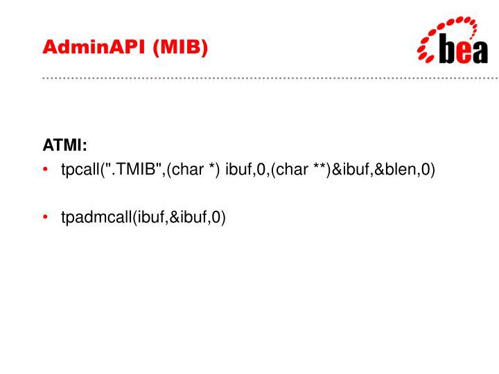 AdminAPI (MIB)