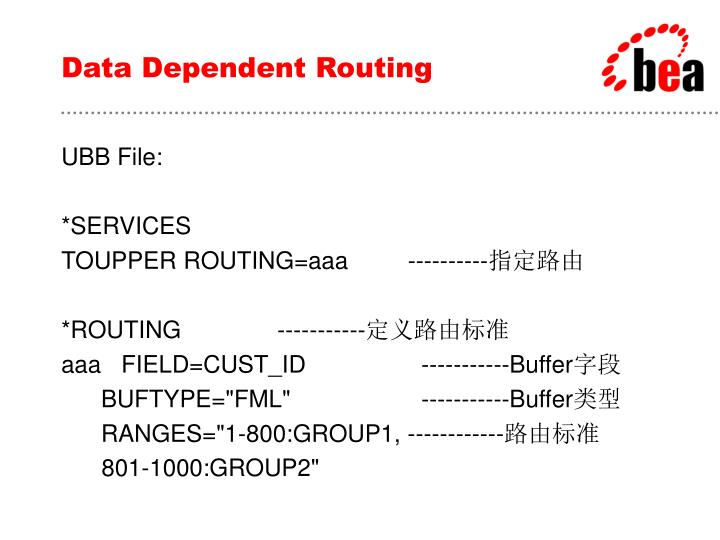 Data Dependent Routing