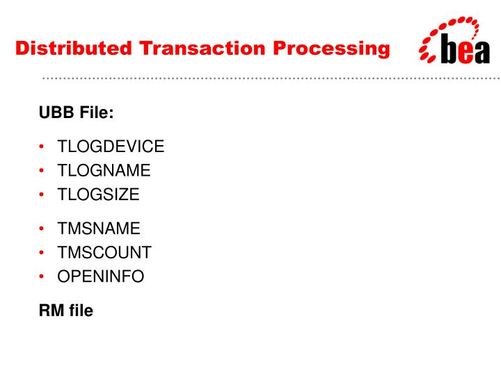 Distributed Transaction Processing