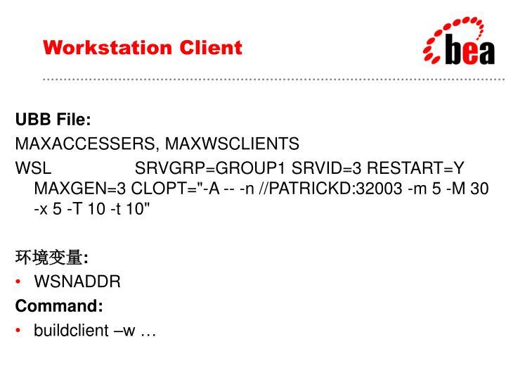 Workstation Client