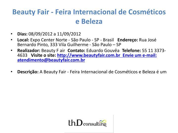 Beauty Fair - Feira Internacional de Cosméticos e Beleza