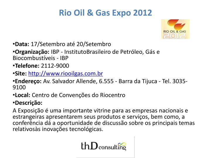 Rio Oil & Gas Expo 2012