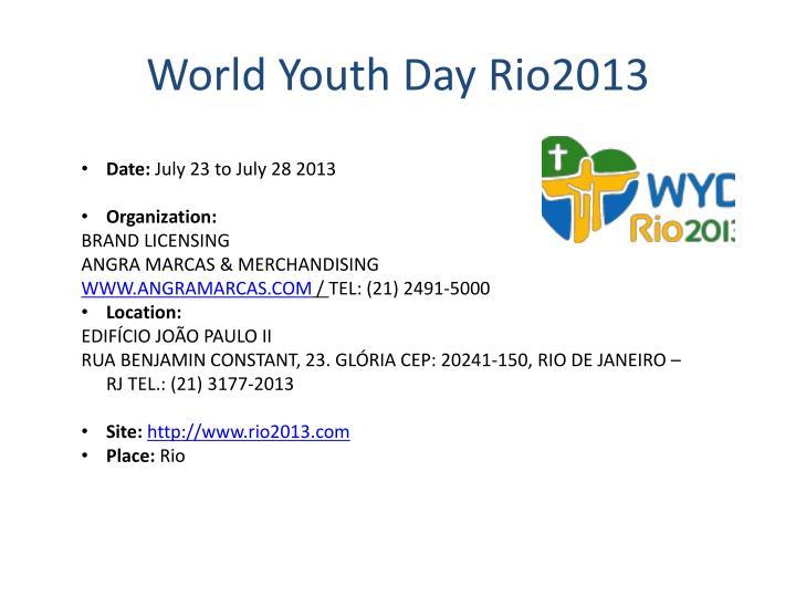 World Youth Day Rio2013