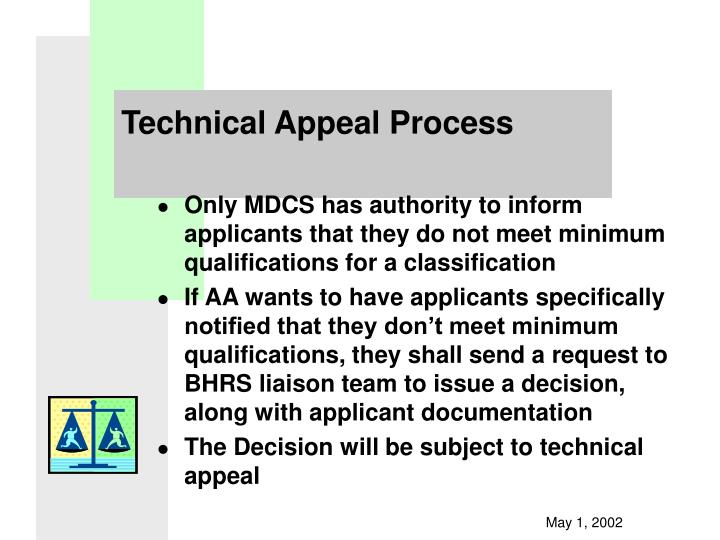 Technical Appeal Process