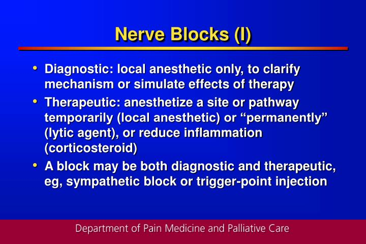 Nerve Blocks (I)