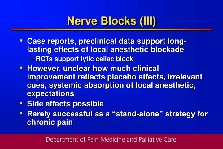 Nerve Blocks (III)