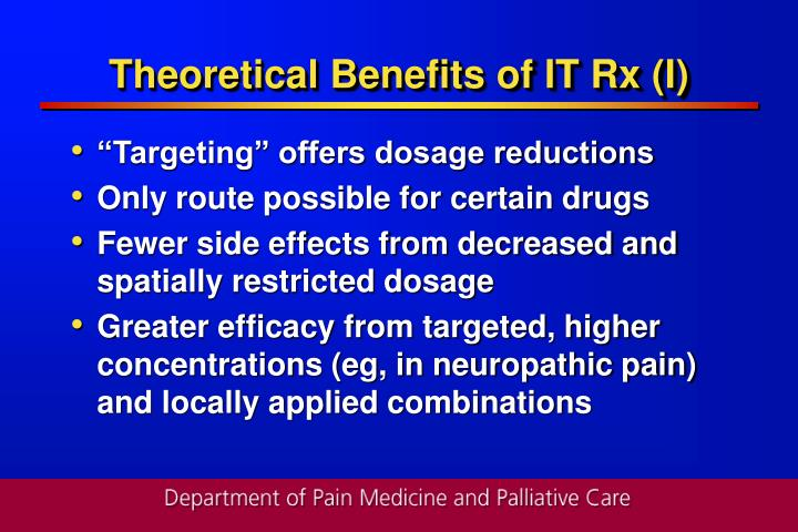 Theoretical Benefits of IT Rx (I)