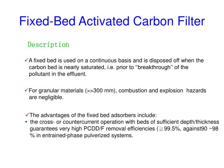 Fixed-Bed Activated Carbon Filter