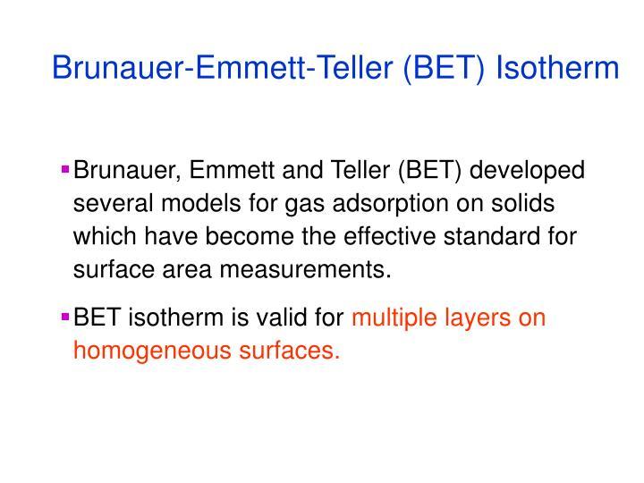 Brunauer-Emmett-Teller (BET) Isotherm