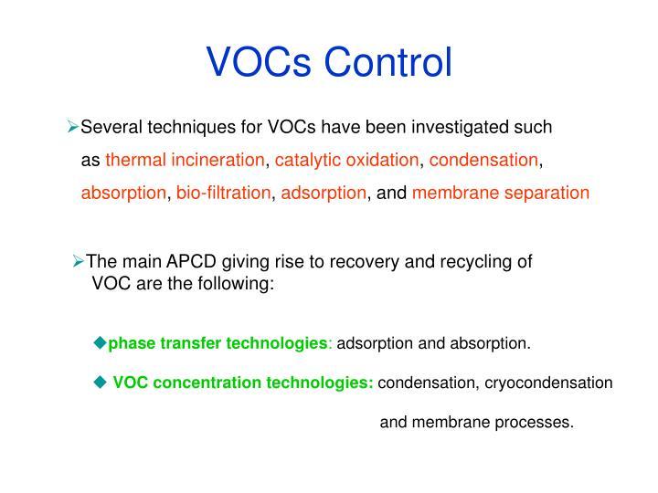 VOCs Control