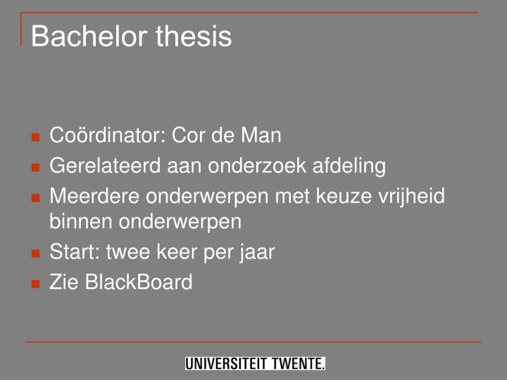 Bachelor thesis