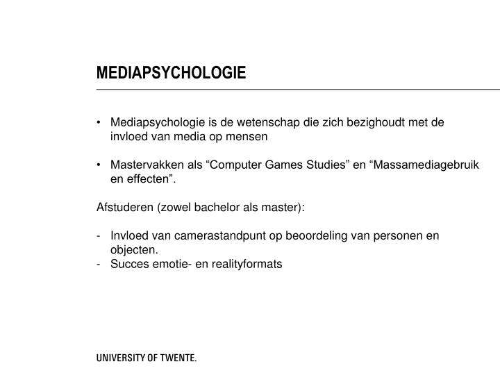 MEDIAPSYCHOLOGIE