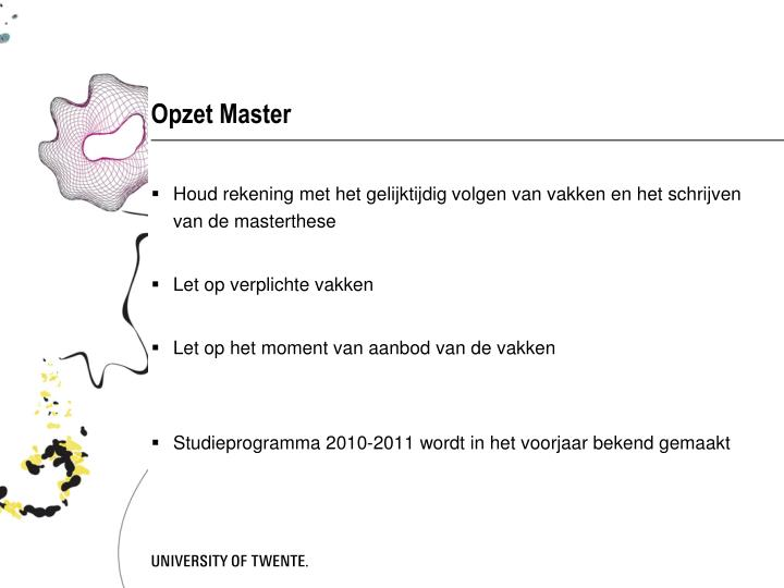 Opzet Master