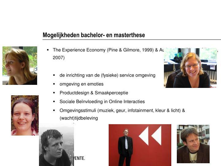 Mogelijkheden bachelor- en masterthese
