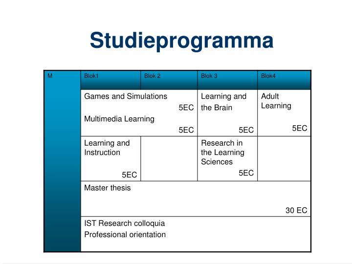 Studieprogramma