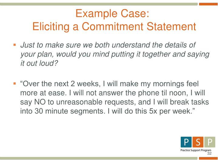Example Case: