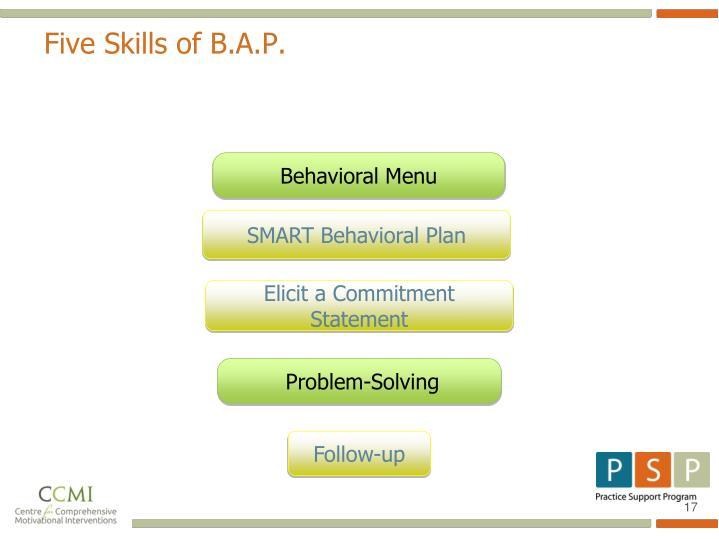Five Skills of B.A.P.