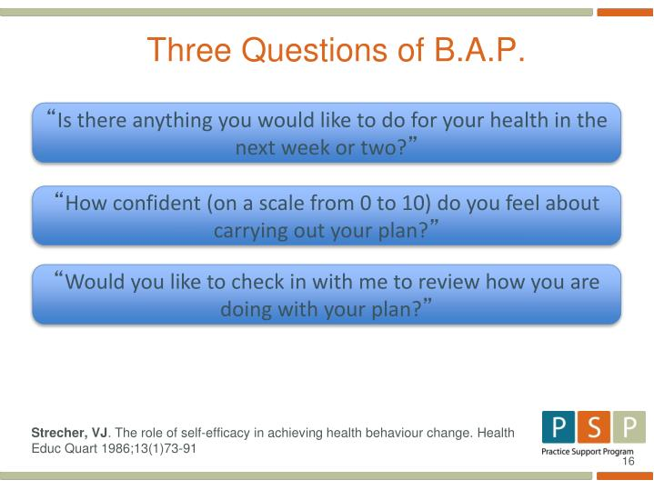 Three Questions of B.A.P.