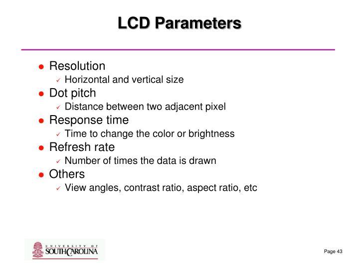 LCD Parameters