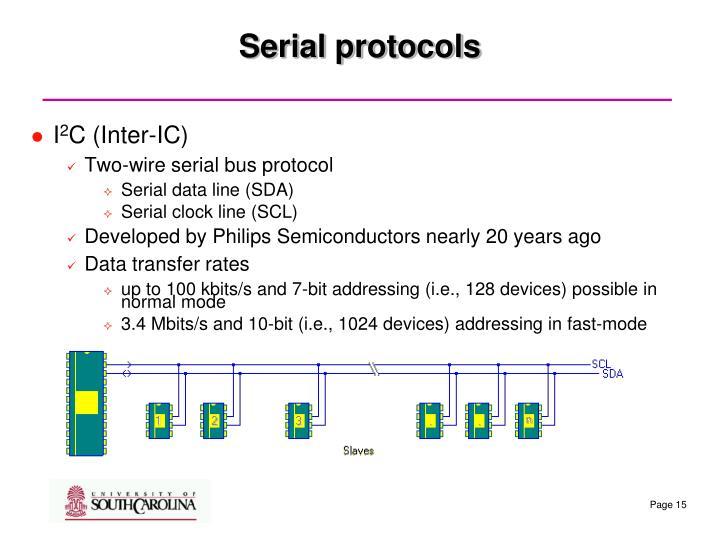 Serial protocols