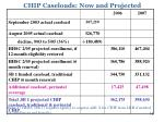 chip caseloads now and projected