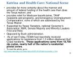 katrina and health care national scene1