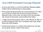 new chip perinatal coverage planned1