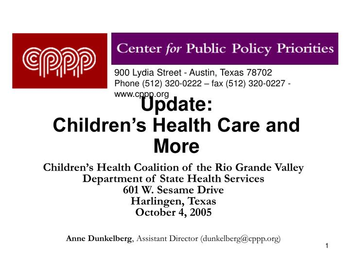 update children s health care and more