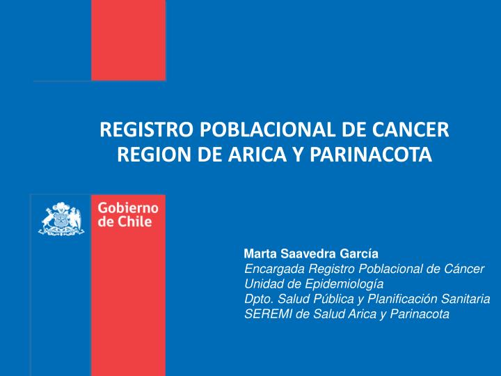 REGISTRO POBLACIONAL DE CANCER