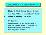 why write key questions