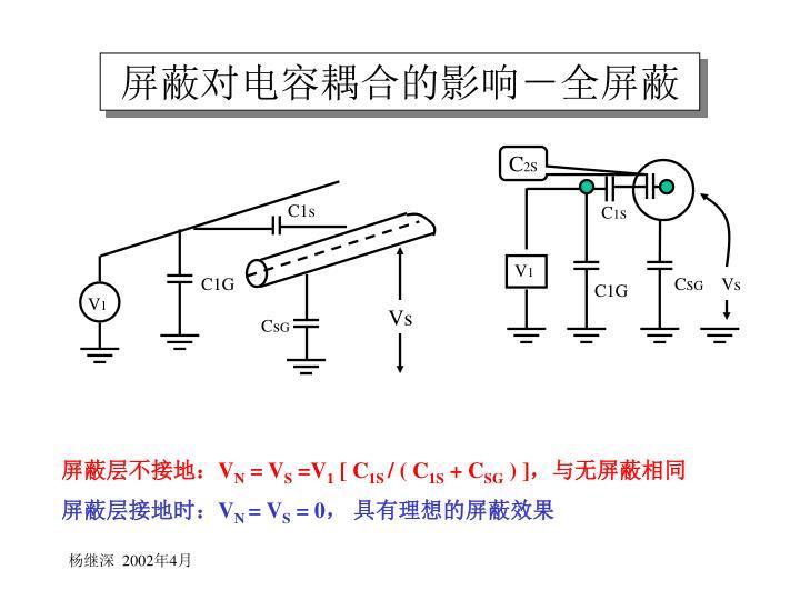 屏蔽对电容耦合的影响-全屏蔽