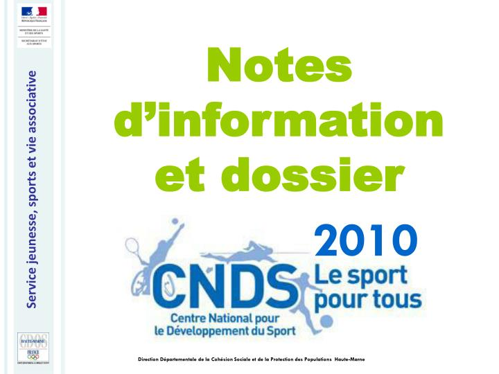 Notes d'information