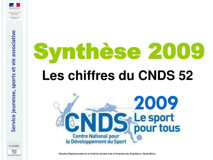 Synthèse 2009