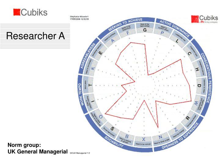 Researcher A