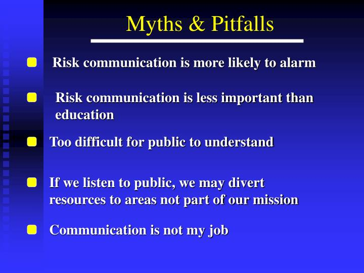 Risk communication is more likely to alarm