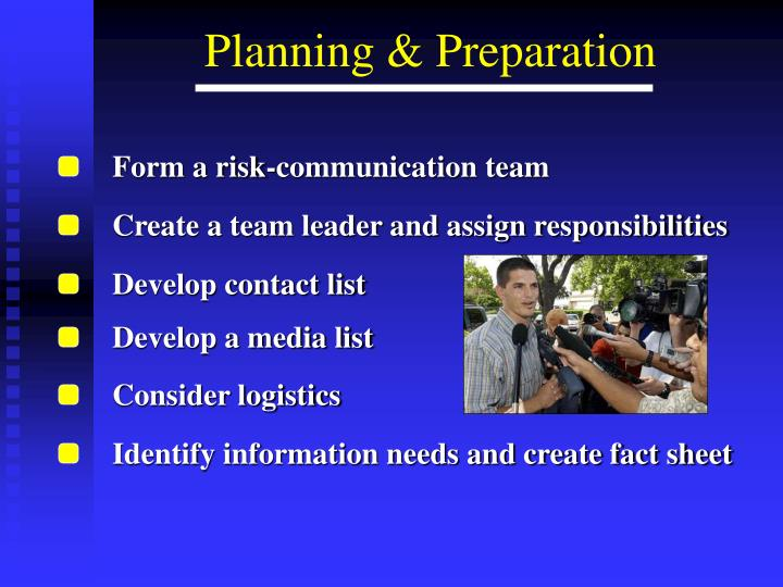 Form a risk-communication team