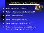 questions to ask yourself