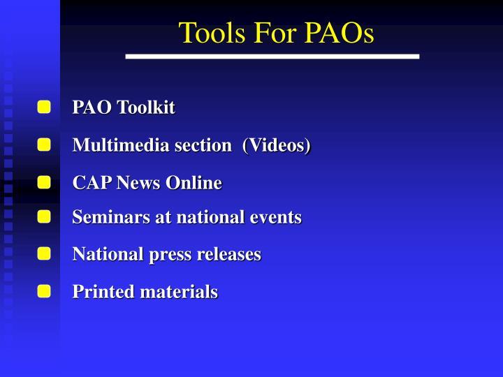 PAO Toolkit