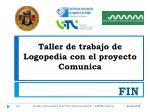 taller de trabajo de logopedia con el proyecto comunica1