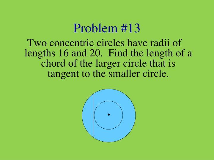 Problem #13