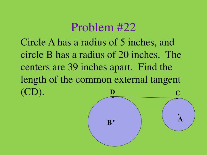 Problem #22