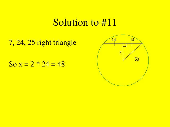 Solution to #11