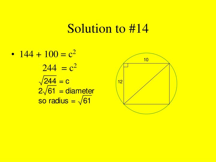 Solution to #14